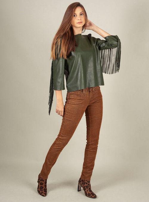 S.O.S. Pantalón estampado print marrón