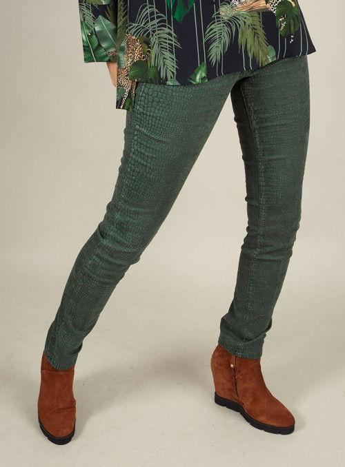 S.O.S. Pantalón estampado print verde