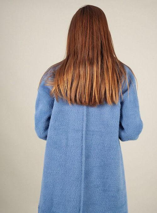 Parole Abrigo Chinilla Azul