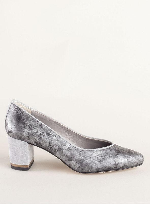 Zapato Metalizado Gris