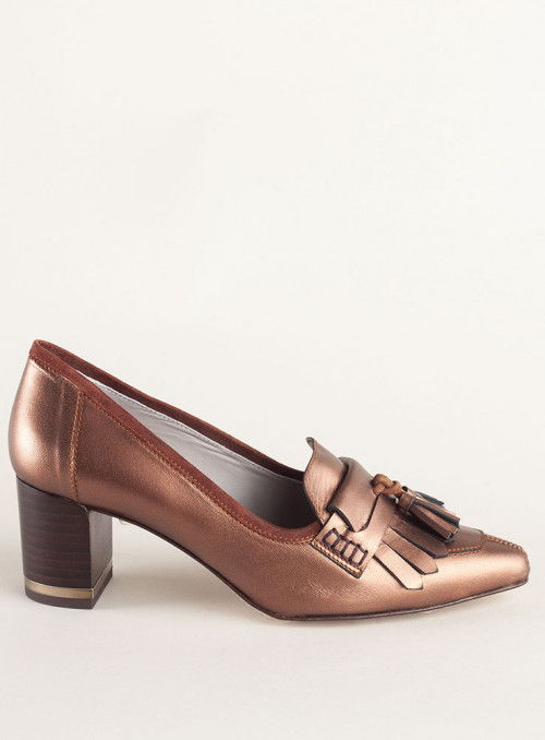 VOSSO Zapato Metalizado Bronze