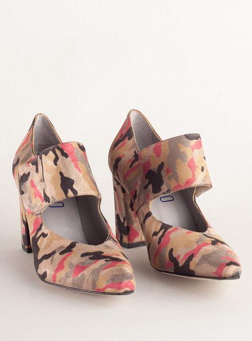 VOSSO Zapato Estampado Militar Rosa