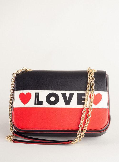 Moschino Love bolsos Bolso Solapa Love Tricolor