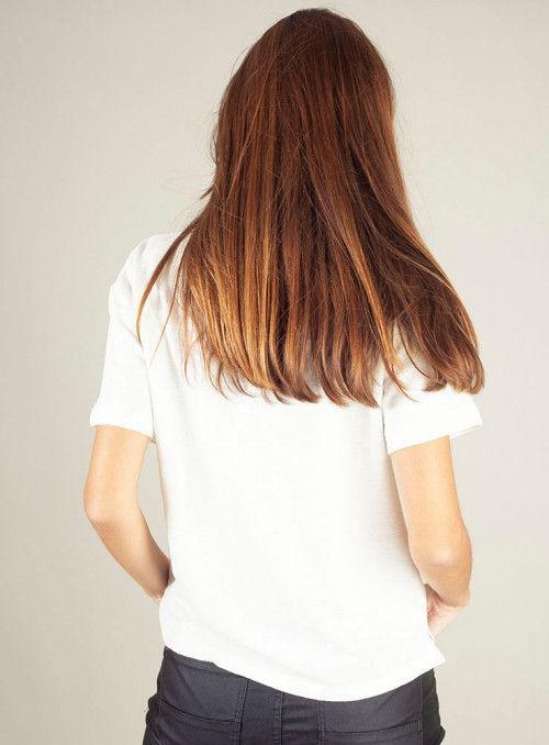 Frnch Camiseta rizo texto
