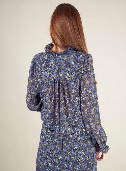 Frnch Camisa floral volantitos
