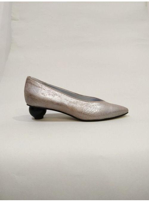 VOSSO Zapato Metalizado Gris