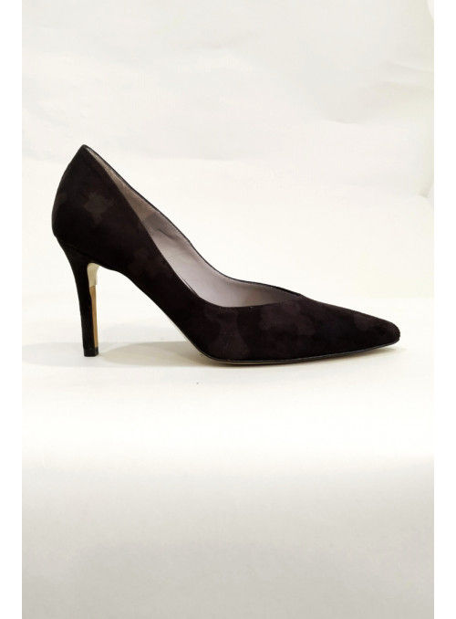 VOSSO Zapato Salón Negro Estampado