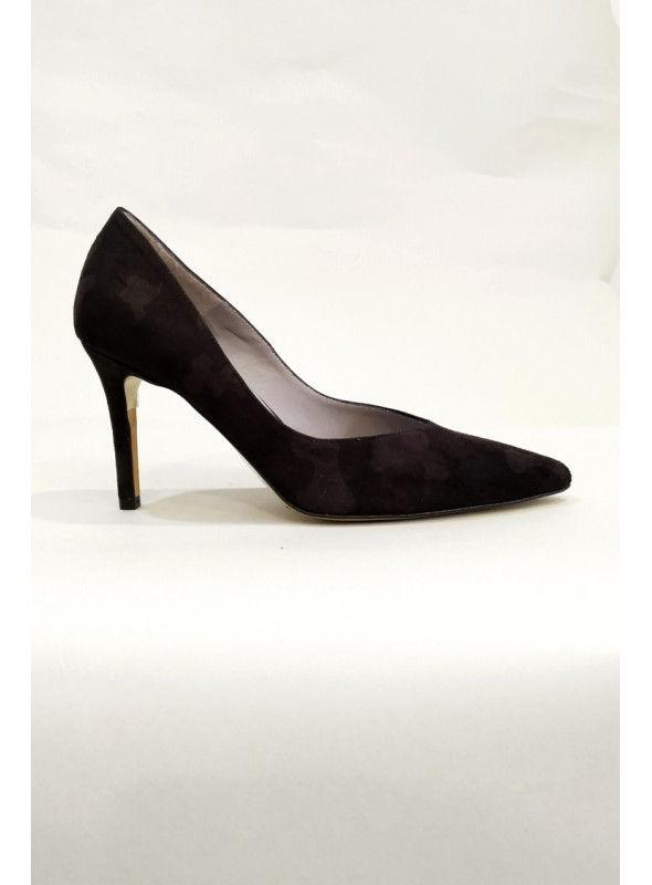Zapato Salón Negro Estampado