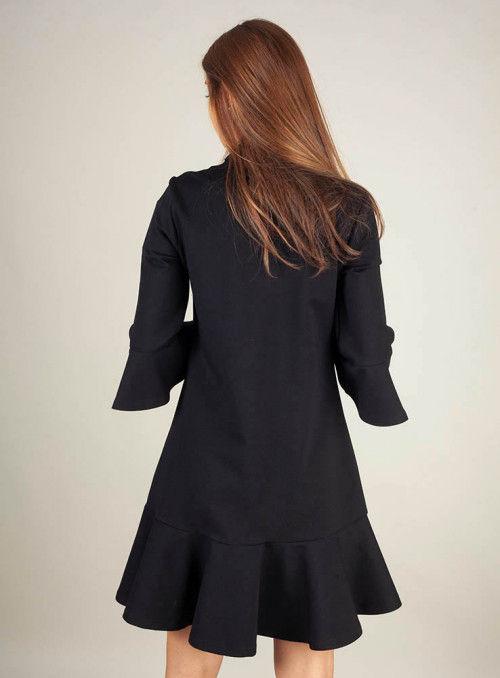 Silvian Heach Vestido negro botones dorados