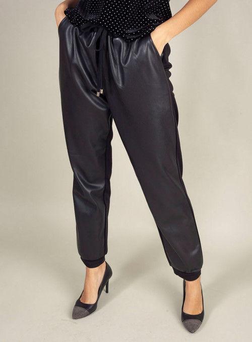 Silvian Heach Pantalón negro combinado