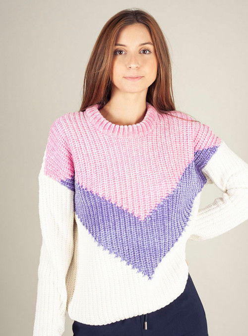 Silvian Heach Jersey chenilla tricolor