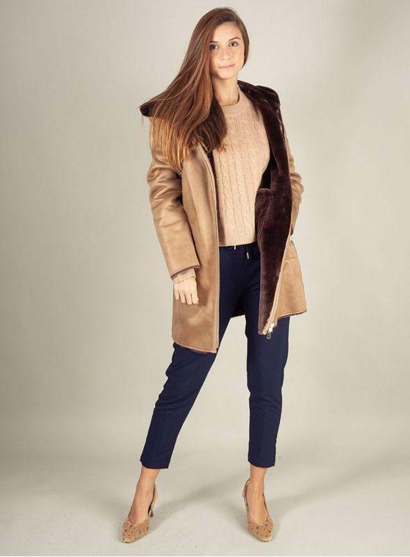 VOSSO Abrigo marrón reversible