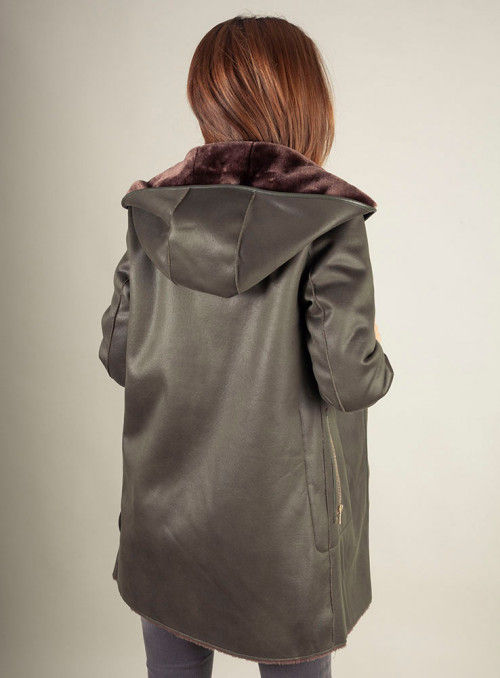 VOSSO Abrigo verde reversible