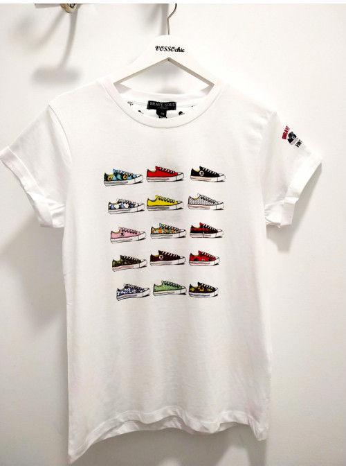Brave Soul Camiseta blanca zapatillas