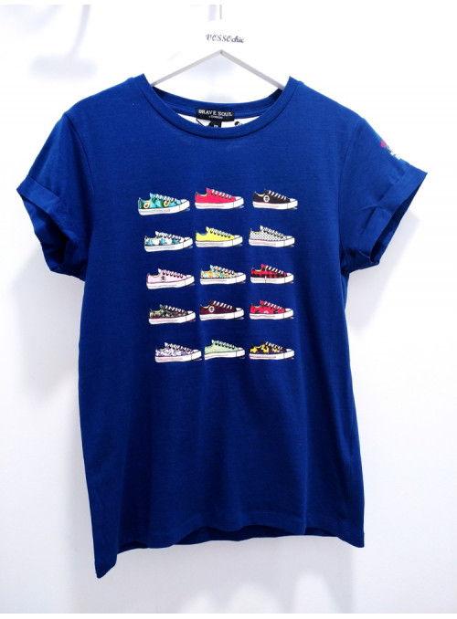 Brave Soul Camiseta marino zapatillas