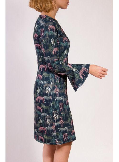 Parole Vestido Estampado Cebras