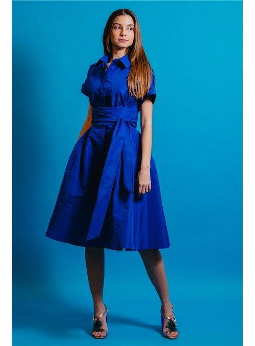Moskada Vestido camisero azulón