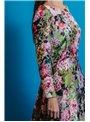 Matilde Cano Vestido Largo Estampado Flores