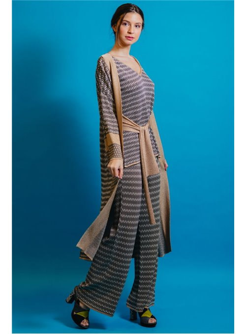 Pisonero Kimono Punto Tricolor