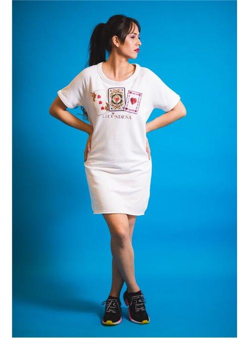 La Condesa Vestido Poker blanco