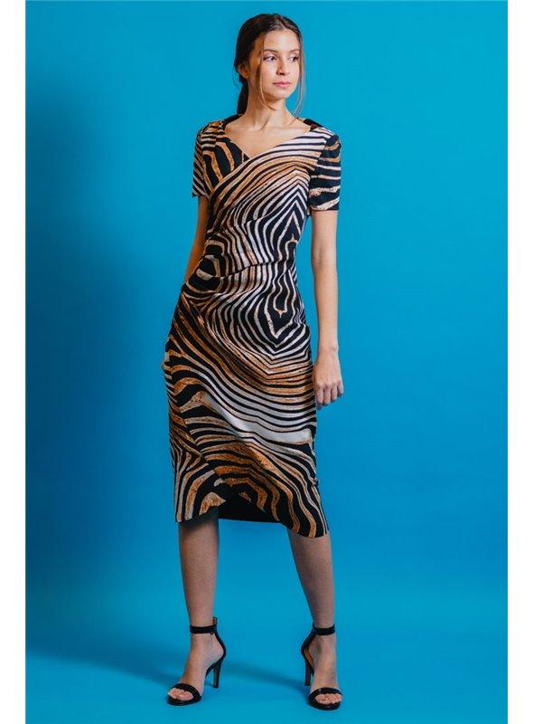 Chiara Boni Vestido Estampado Animal Print