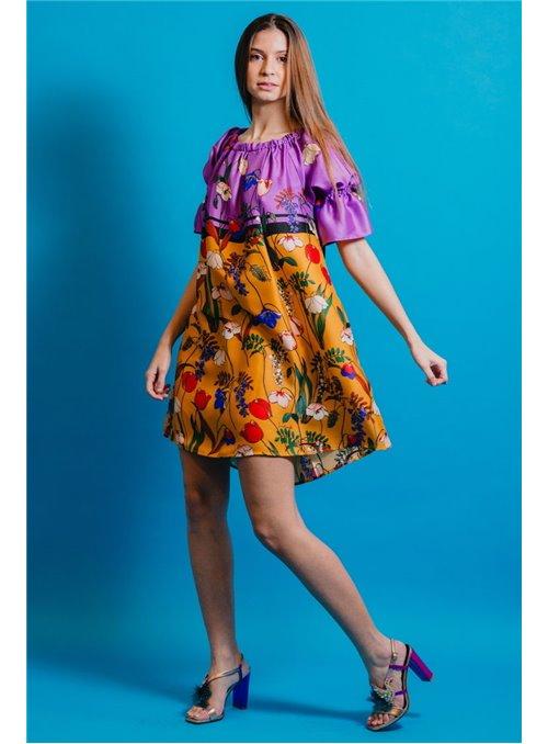 Cristina Effe Vestido Estampado Amapolas