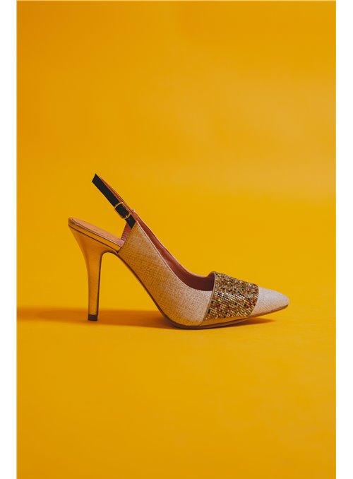 Sarah Verdel Zapato Salón Destalonado Tira Strass