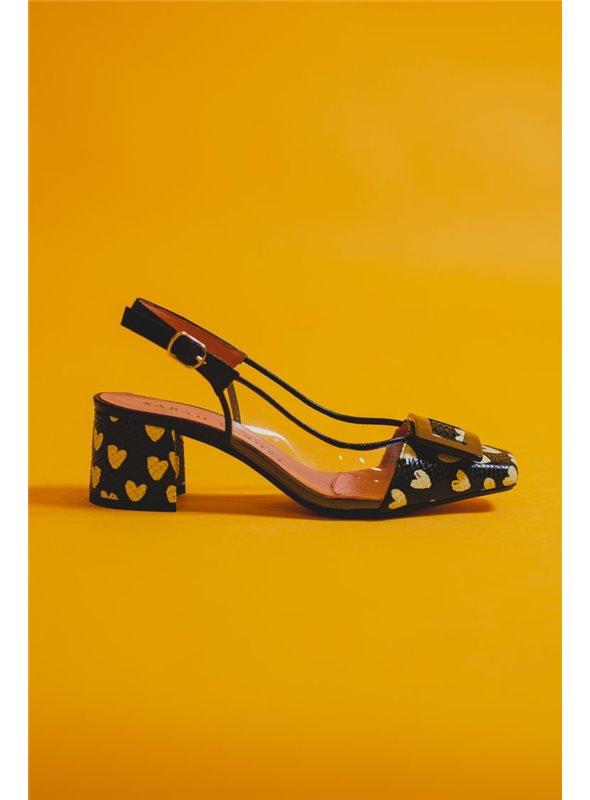 Sarah Verdel Zapato Estampado Corazones