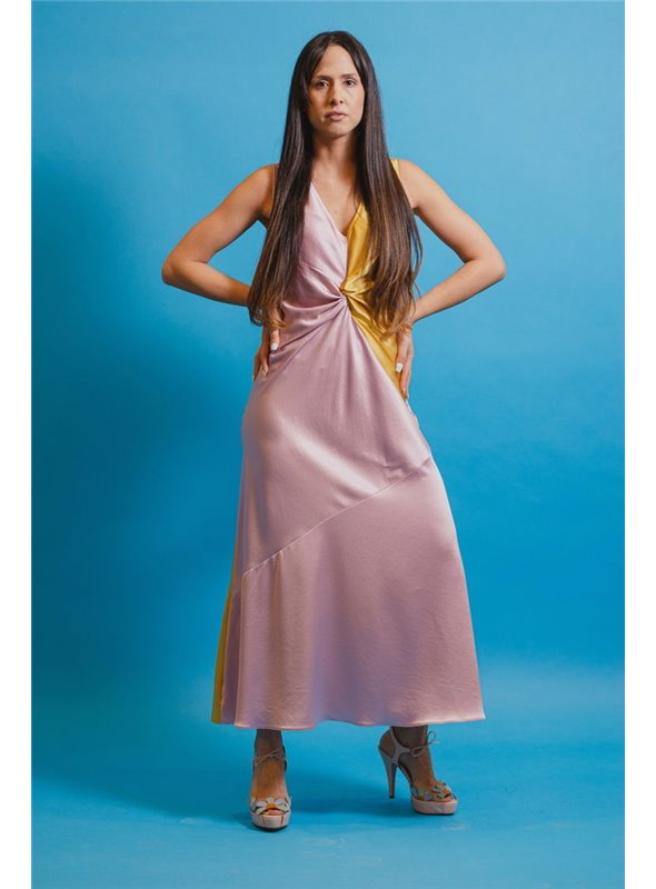 Pinko Vestido De Santén Bicolor