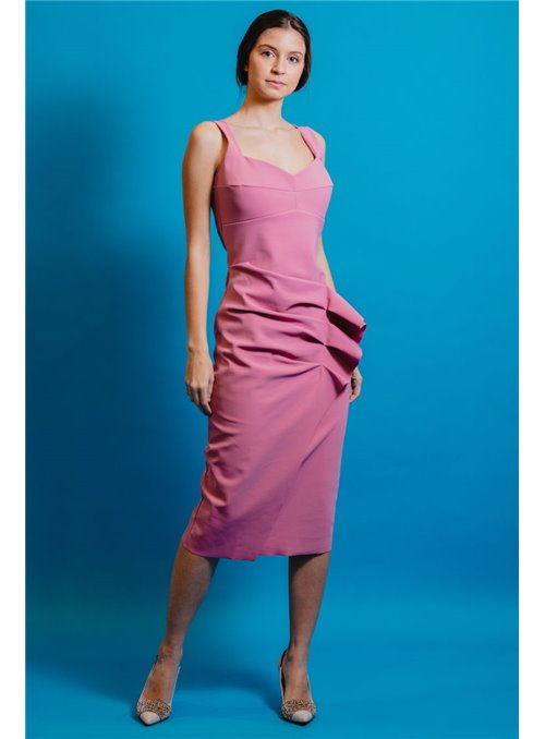 Chiara Boni VestidoTirantes Rosa