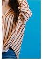 Silvian Heach Camisa rayas ablusada