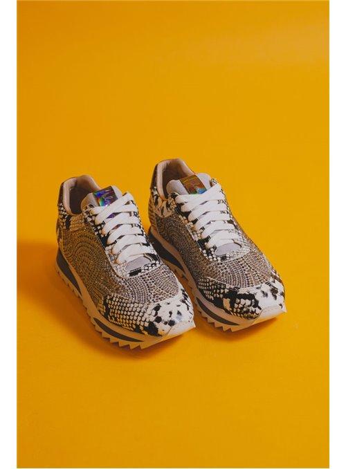 Alma en Pena Sneaker serpiente strass