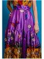 Cristina Effe Vestido Largo Estampado Amapola
