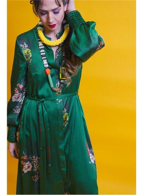 Silvian Heach Vestido camisero largo floral