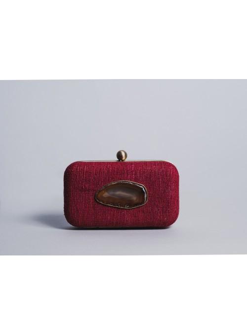 Vossochic Clutch rojo cuarzo
