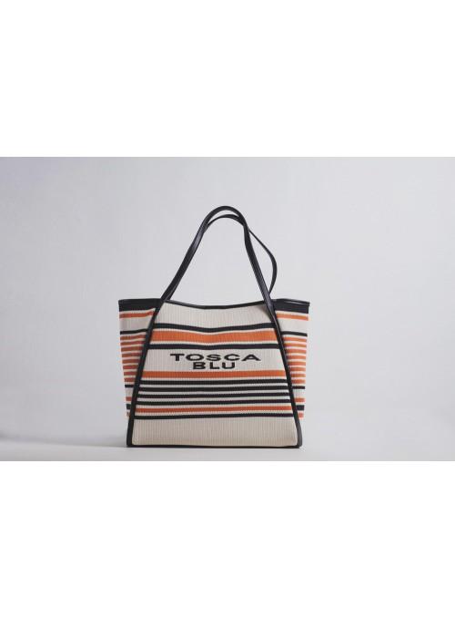 Tosca Blu Bolso shopping rayas