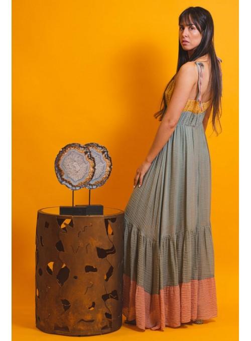 Cristina Beautiful life Vestido Largo Tricolor