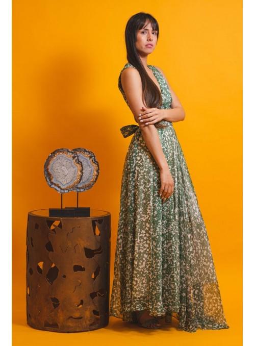Cristina Beautiful life Vestido Estampado Verde