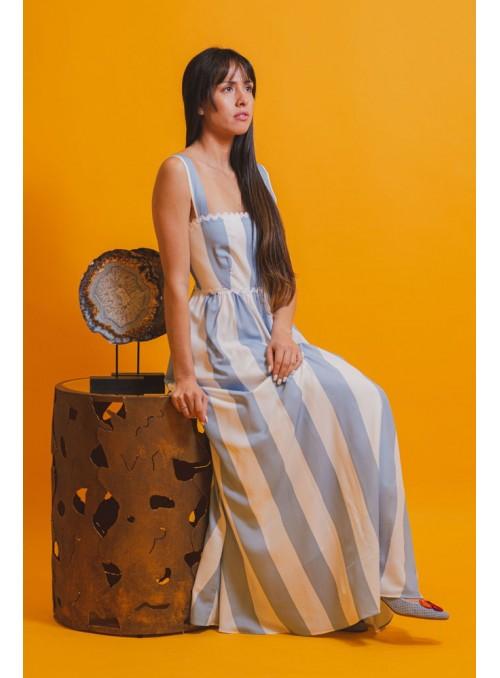 Cristina Beautiful life Vestido Midi Rayas Bicolor