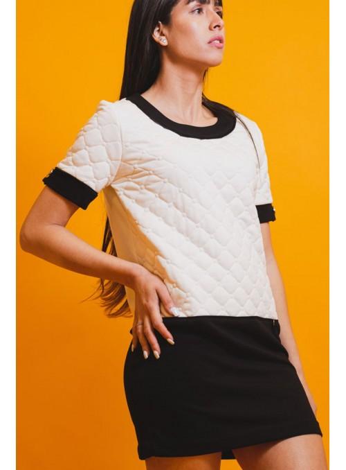 Rinascimento Vestido bicolor