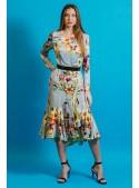 Matilde Cano Vestido Volantes Estampado Flores