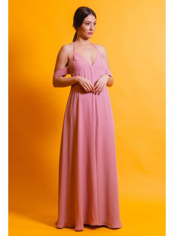 La Croixe Vestido Largo Rosa