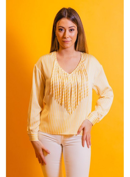 Silvian Heach Camisa rayas flecos