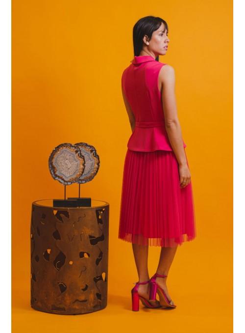 Rinascimento Vestido combinado plisado