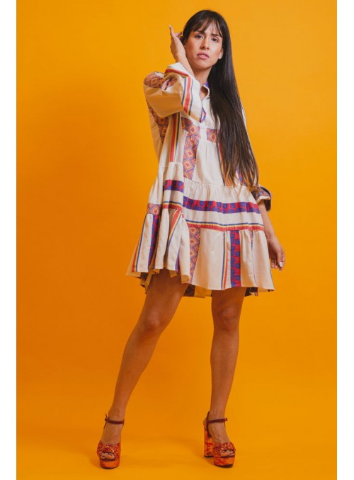 BSB Vestido mini étnico