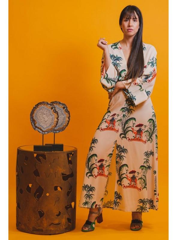 Cristina Beautiful life Vestido Estampado Camellos