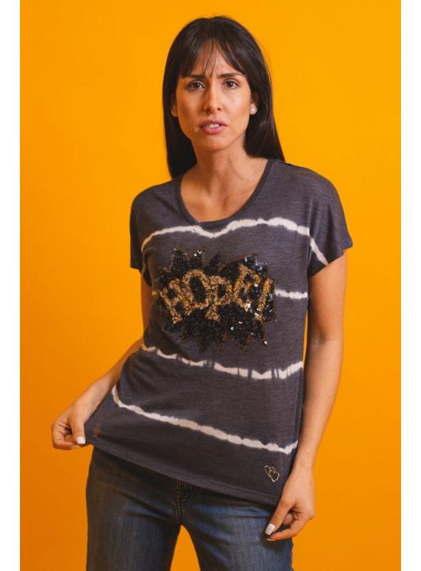 Key Largo Camiseta rayas paillettes