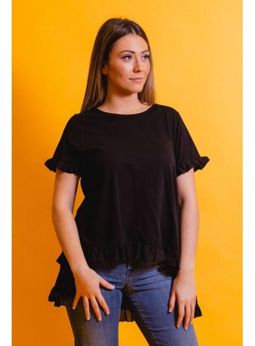 BSB Camiseta negra mini volante