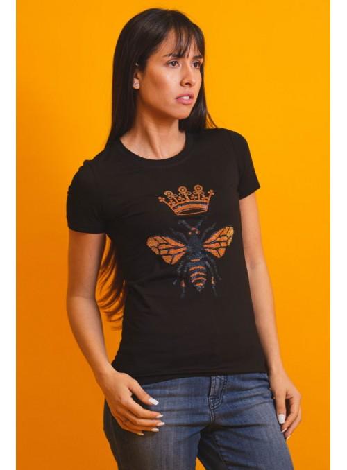 VOSSO Camiseta negra insecto
