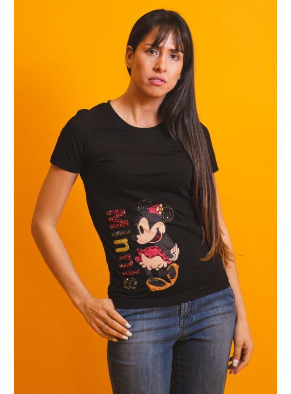 VOSSO Camiseta Minnie aplicaciones